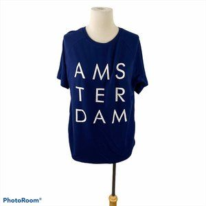 FOREVER 21 Blue Amsterdam Tee with Pockets